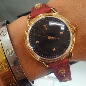 Frye Rose Gold leather watch